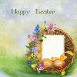 Easter greeting background royalty free illustration