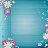 Easter  greeting  blue card Royalty Free Stock Images