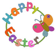 Easter greeting with butterfly Royalty Free Stock Images