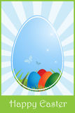 Easter greeting card. Illustration of a background for easter, useful as greeting card.EPS file available Royalty Free Stock Photos