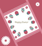 Easter greeting card. Illustration of a background for easter, useful as greeting card.EPS file available Royalty Free Stock Images