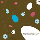 Easter greeting card. Illustration of a background for easter, useful as greeting card. EPS file available Stock Image
