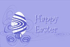 Easter greeting card with egg in English. An example of Easter cards. An example of Easter greeting card. The text happy easter is thought for all english region Royalty Free Stock Photos
