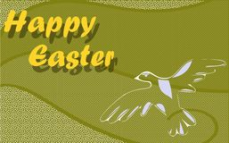 Nice Easter greeting card with dove Stock Photo