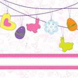 Easter greeting card Stock Photography
