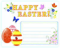 Easter greeting card. Royalty Free Stock Image