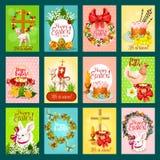 Easter greeting card, banner, poster set design Royalty Free Stock Image