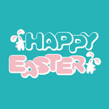 Easter greeting card with bunnies Royalty Free Stock Photography