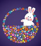 Easter greeting card with bunny Royalty Free Stock Photos