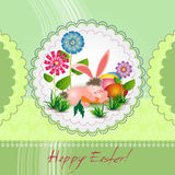 Easter greeting card with bunny Stock Photos