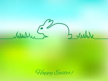 Easter greeting card with bunny Royalty Free Stock Photo