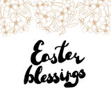 Easter greeting card. Cherry blossoms with handwritten text Stock Images