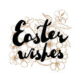 Easter greeting card. Cherry blossoms with handwritten text Stock Photo