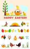 Easter greeting card constructor Royalty Free Stock Photo