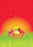 Easter greeting card with copy-space. Stock Photo