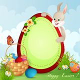 Easter greeting card vector illustration