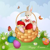 Easter greeting card royalty free illustration