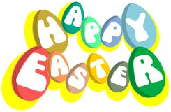 Colorful Easter greeting card isolated royalty free stock photos