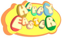 colorful Easter greeting card isolated Stock Photos