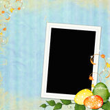 Easter greeting card with decorative egg Stock Photography