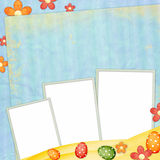 Easter greeting card with decorative egg Royalty Free Stock Photos