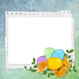 Easter greeting card with decorative egg Royalty Free Stock Photography