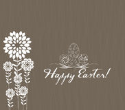 Easter greeting card with decorative egg on green background Royalty Free Stock Images