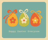 Easter Greeting Card Design. Retro style design for Easter greeting card Royalty Free Stock Photos
