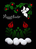 Easter greeting card design in black and white Stock Photos