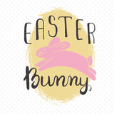 Easter greeting card - Easter Bunny Stock Photography
