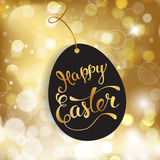 Easter greeting card with  Easter egg and original  text Royalty Free Stock Photos