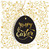 Easter greeting card with  Easter egg and original  text Royalty Free Stock Images