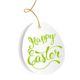 Easter greeting card with  Easter egg and original  text Stock Photos