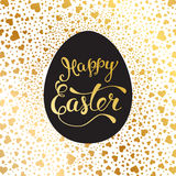 Easter greeting card with  Easter egg and original  text Stock Photography