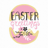 Easter greeting card - Easter greetings. Royalty Free Stock Photography