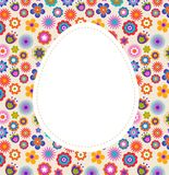 Easter greeting card with egg and flowered pattern Stock Photo
