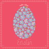 Easter greeting card -egg from forget-me-nots Royalty Free Stock Image