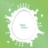 Easter greeting card with egg, rabbit, bird Royalty Free Stock Photos