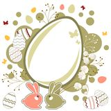 Easter greeting card with eggs Stock Image