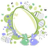 Easter greeting card with eggs Stock Images