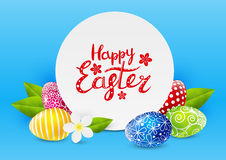 Easter greeting card. With eggs Royalty Free Stock Photo