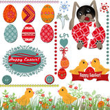 Easter greeting card with eggs Royalty Free Stock Photo