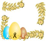 Easter greeting card with eggs and AIDS ribbon Stock Photography