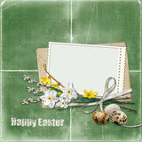 Easter greeting card with frame Royalty Free Stock Photography