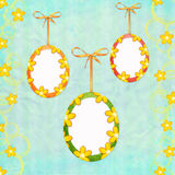 Easter greeting card with frames Stock Image