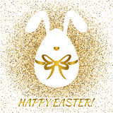 Easter greeting card with funny bunny Royalty Free Stock Images