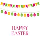 Easter greeting card with garlands Stock Photo
