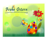 Easter greeting card - grusskarte zu ostern Stock Images