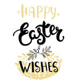 Easter greeting card - Happy Easter wishes. Royalty Free Stock Photography