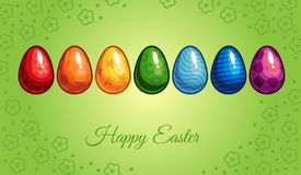 Easter Greeting Card. Happy Easter greeting card. holidays. wallpaper vector illustration Stock Photo